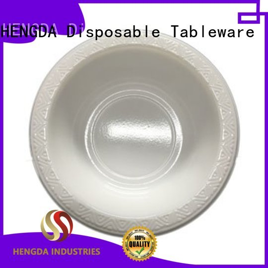 white bowl disposable HENGDA Disposable Tableware Brand disposable plates and bowls manufacture