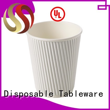 HENGDA Disposable Tableware Brand ripple wall single wall cold drink green paper party cups